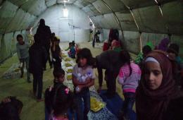 3ab781247 هيئة فلسطيني سوريا للإغاثة تقيم مأدبة غداء لأطفال مخيم دير بلوط